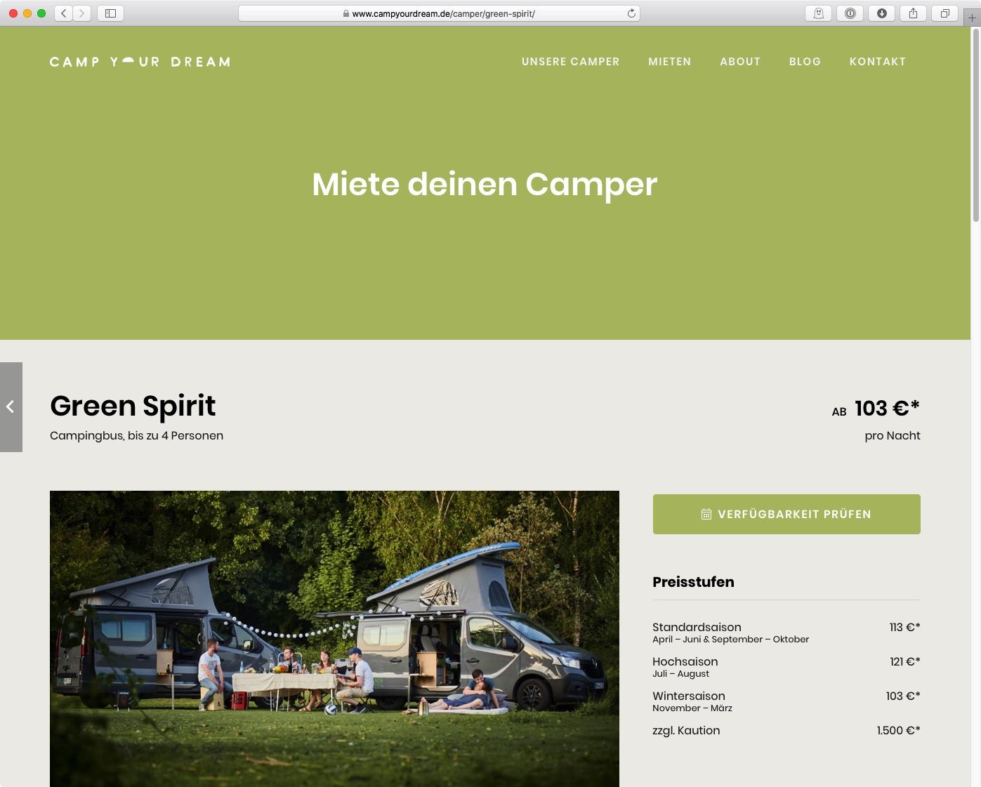 CAMP YOUR DREAM - Green-Spirit (Farbkonzept)