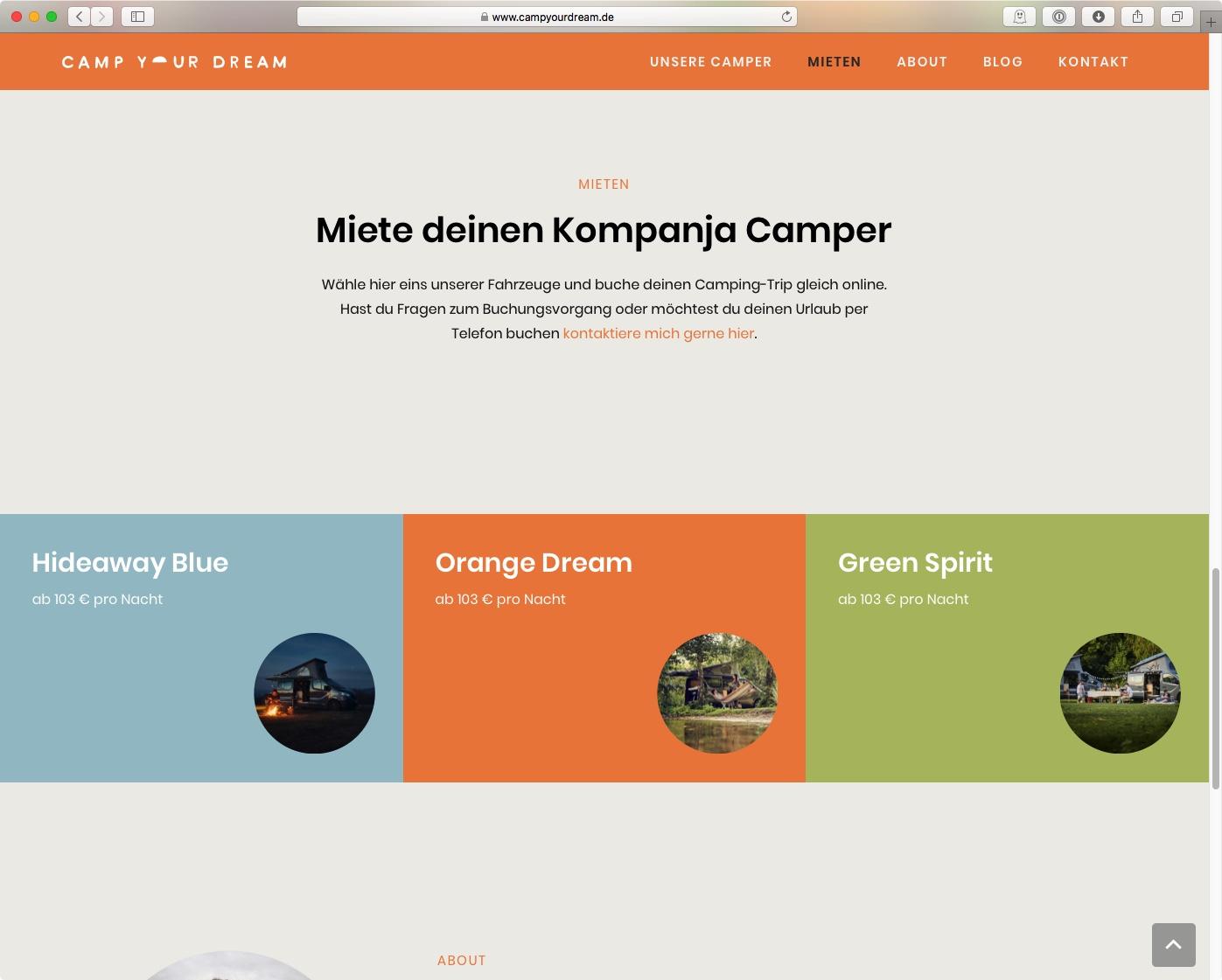 CAMP YOUR DREAM - Camper (Farbkonzept)