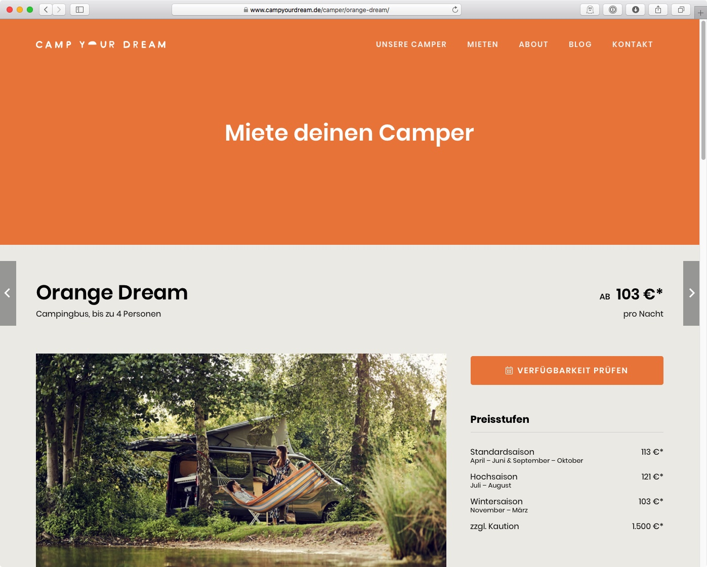 CAMP YOUR DREAM - Orange-Dream (Farbkonzept)