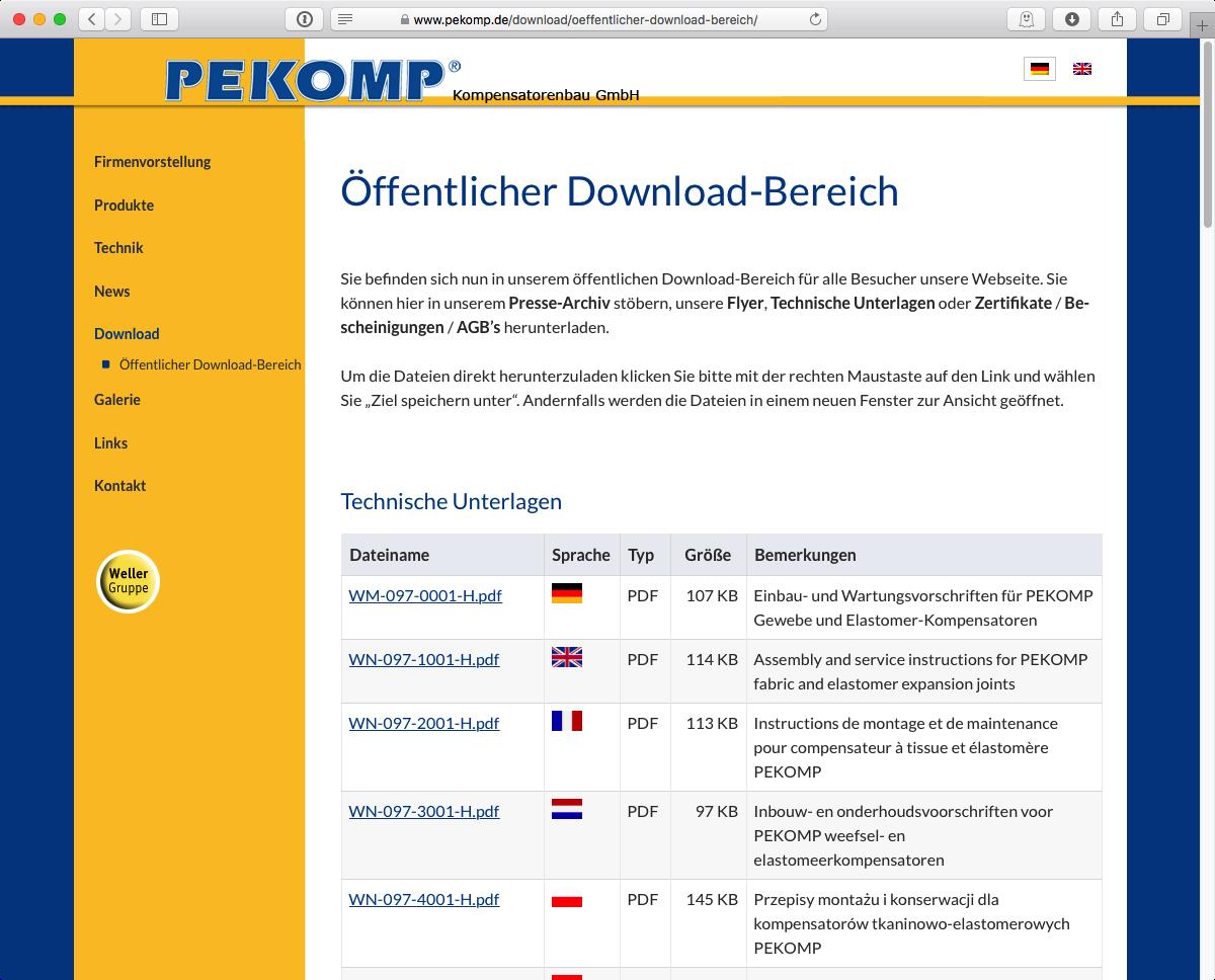 PEKOMP GmbH - Download