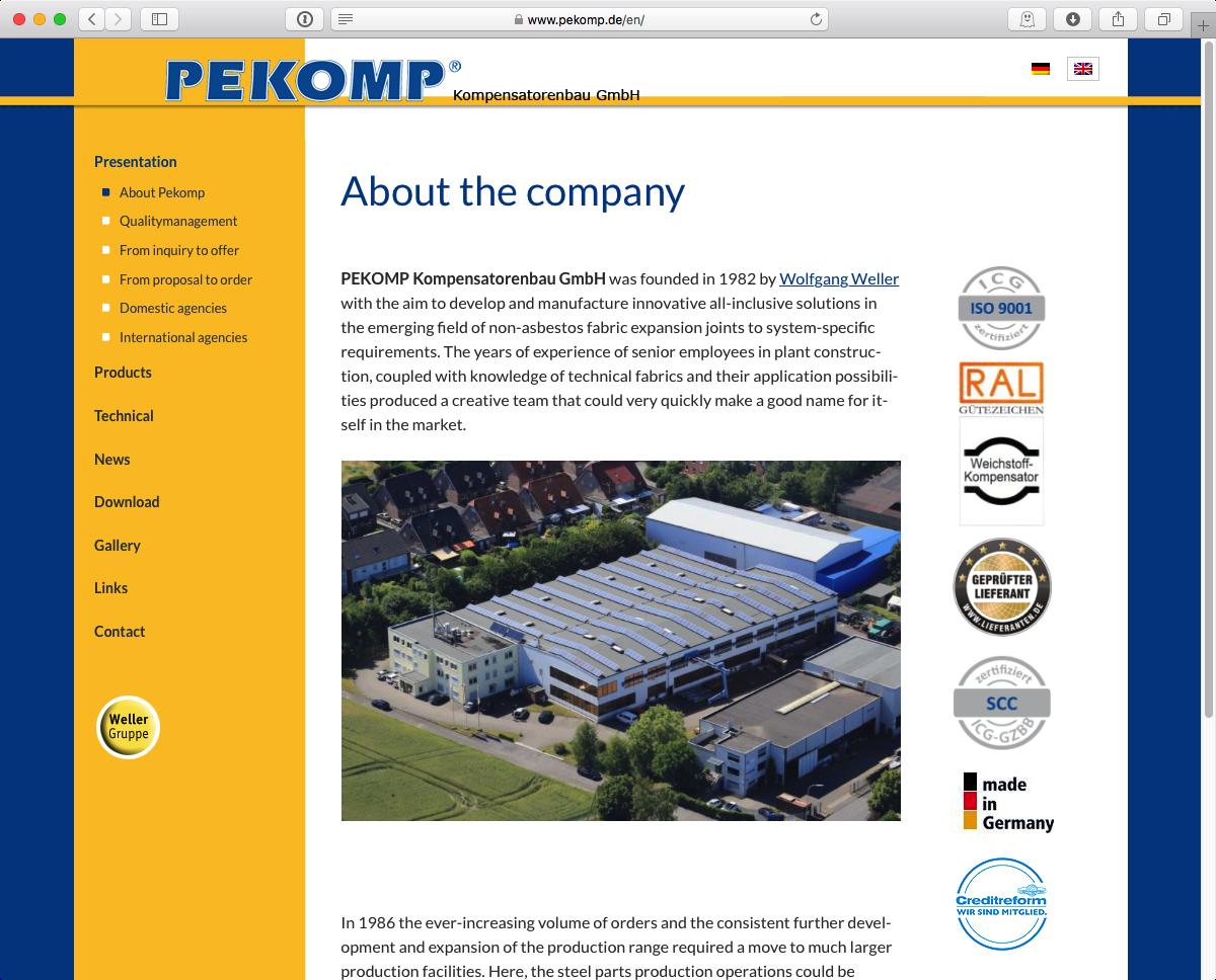 PEKOMP GmbH - Home EN