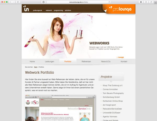 prolounge.de - Relaunch - Screenshot