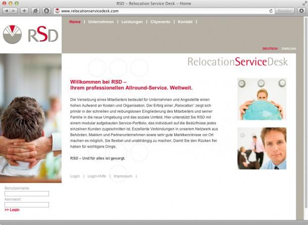 RelocationServiceDesk - Startseite
