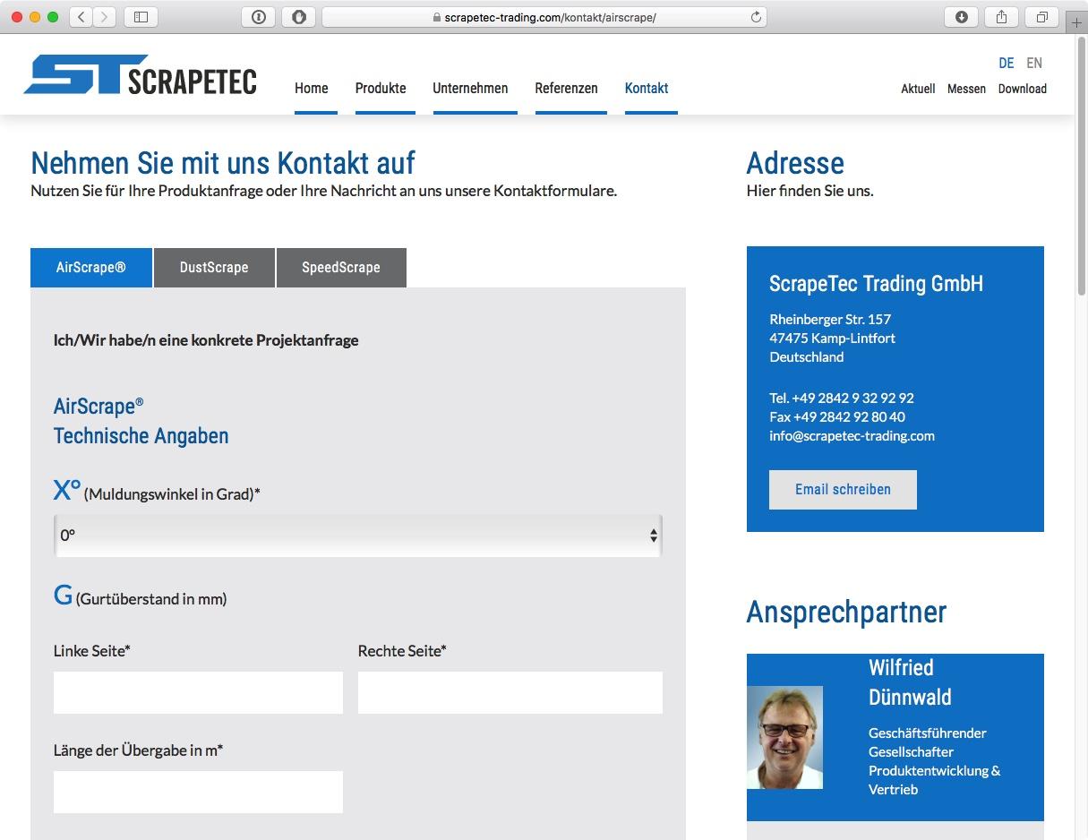 Scrapetec Trading GmbH - Formulare