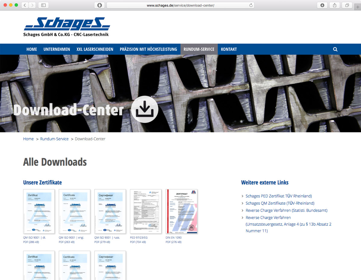 Schages GmbH und Co. KG - Download-Center