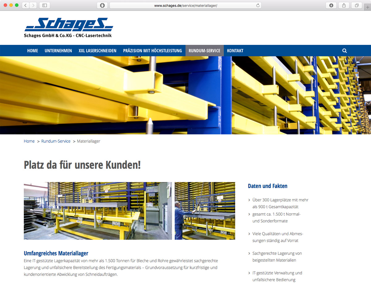 Schages GmbH und Co. KG - Materiallager