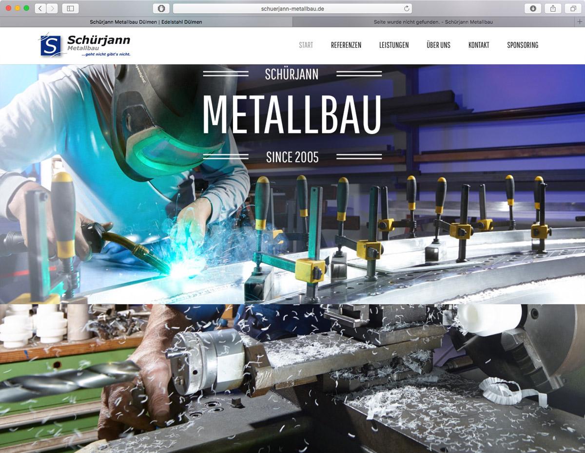 Schürjann Metallbau - Parallax Effekte auf der Homepage