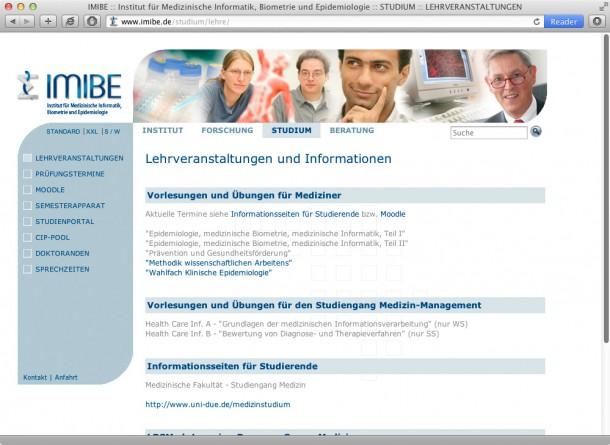 Uni DU-Essen IMIBE -Studium